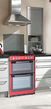 freestanding oven red