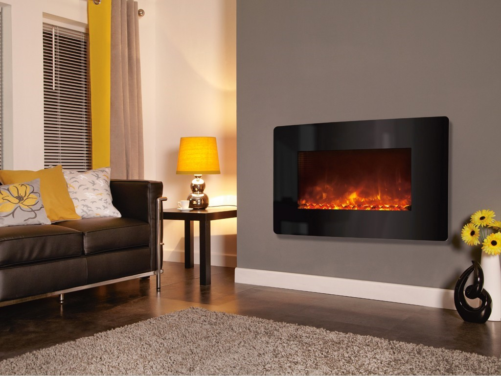 Celsi Electriflame XD curved glass