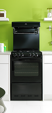 freestanding oven black